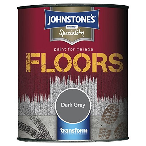 Johnstone's 307941 750ml Garage Floor Paint - Dark Grey