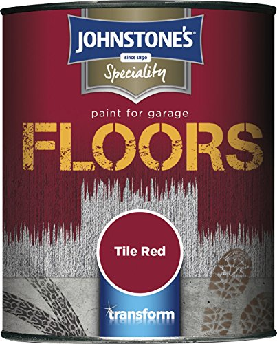 Johnstone's 307943 750ml Garage Floor Paint - Tile Red