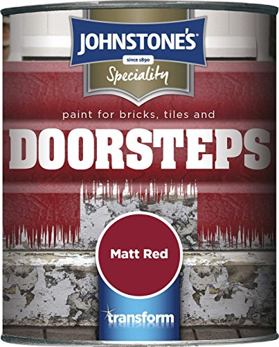 Johnstone's 307950 Paint For Bricks Tiles And Door Steps - Matt Red,0.75