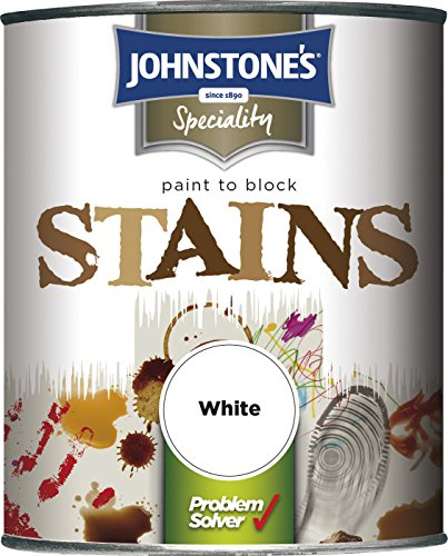 Johnstone's 307957 750ml Paint To Block Stains - White