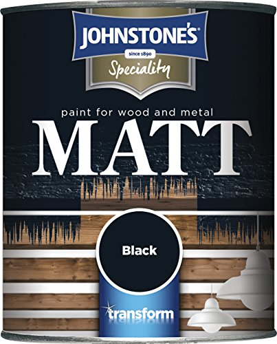 Johnstone's 307958 250ml Paint For Wood And Metal - Matt Black