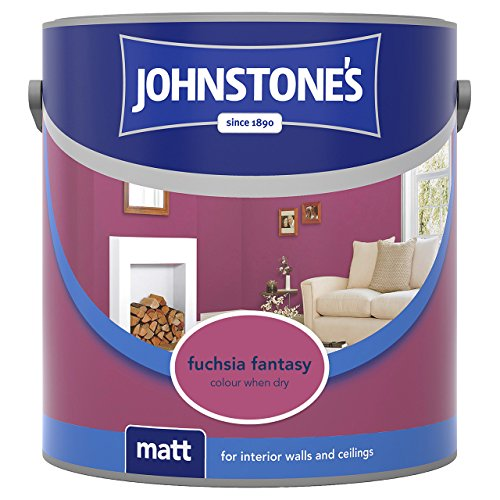 Johnstone's 308442 2.5 Litre Matt Emulsion Paint - Fuchsia Fantasy