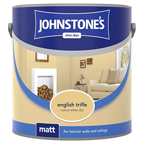 Johnstone's 308443 2.5 Litre Matt Emulsion Paint - English Trifle