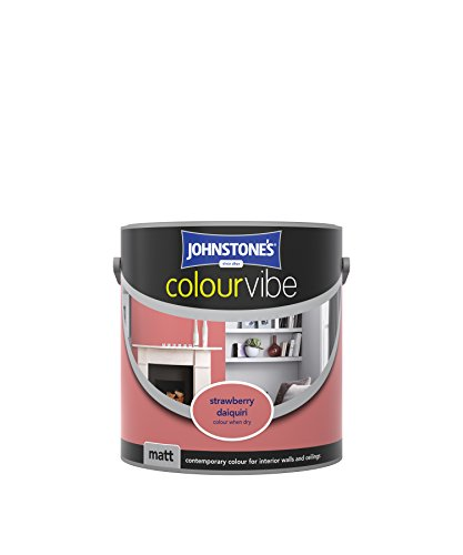 Johnstone's 308444 2.5 Litre Colour Vibe Emulsion Paint - Strawberry Daiquiri