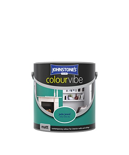Johnstone's 308445 2.5 Litre Colour Vibe Emulsion Paint - Jade Jewel