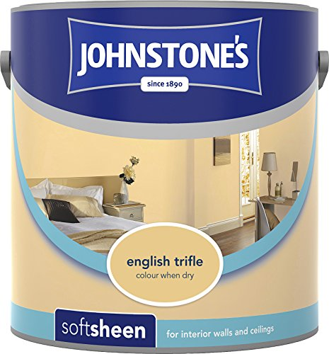 Johnstone's 308446 2.5 Litre Soft Sheen Emulsion Paint - English Trifle