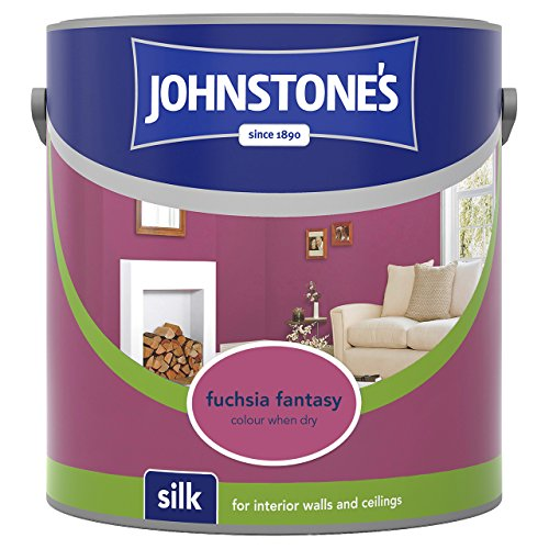 Johnstone's 308448 2.5 Litre Silk Emulsion Paint - Fuchsia Fantasy