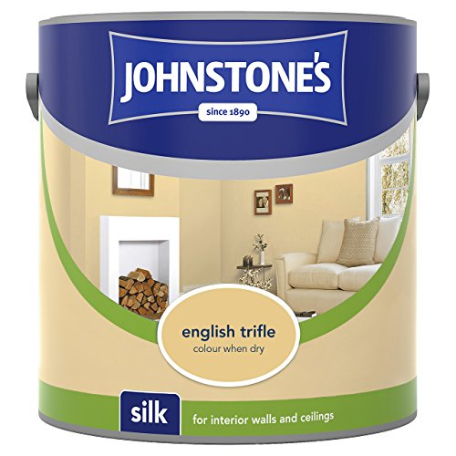 Johnstone's 308449 2.5 Litre Silk Emulsion Paint - English Trifle