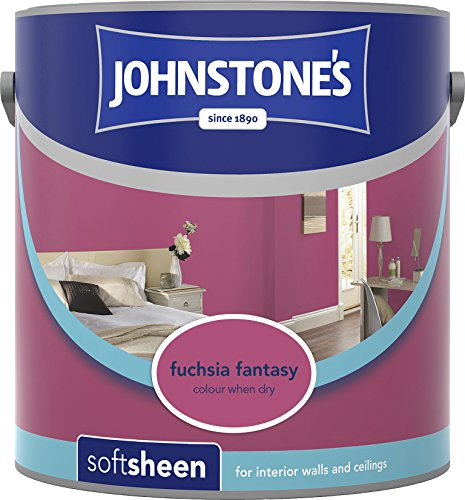 Johnstone's 308457 2.5 Litre Soft Sheen Emulsion Paint - Fuchsia Fantasy