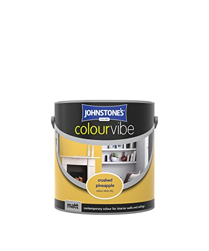Johnstone's 308458 2.5 Litre Colour Vibe Emulsion Paint - Crushed Pineapple