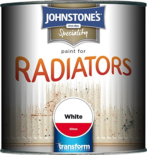 Johnstone's 739187 250ml Gloss Paint For Radiators - Brilliant White