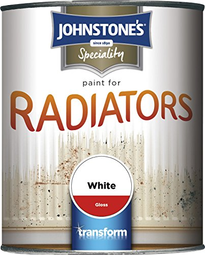 Johnstone's 739188 750ml Gloss Paint For Radiators - Brilliant White
