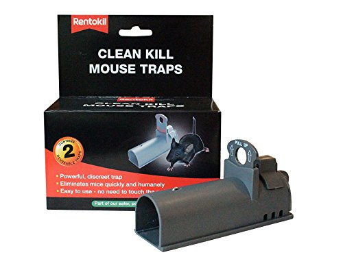 Rentokil Clean Kill Mouse Traps Twin Pack