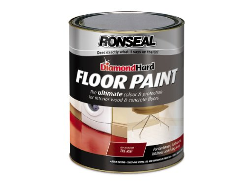 Ronseal Dhfptr5l Diamond Hard Floor Paint Tile Red 5 Litre