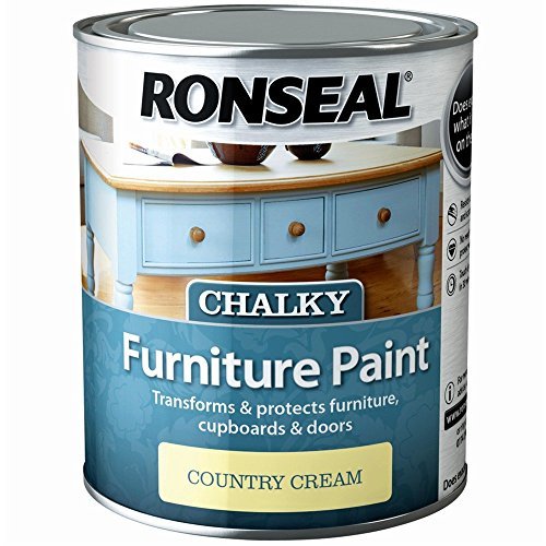 Ronseal 750ml Chalky Furniture Paint - Country Cream