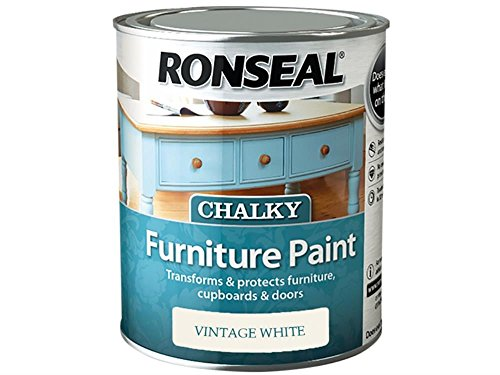 Ronseal 750ml Chalky Furniture Paint - Vintage White