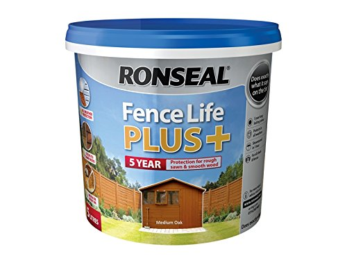 Ronseal Fence Life Plus+ Medium Oak 5 Litre