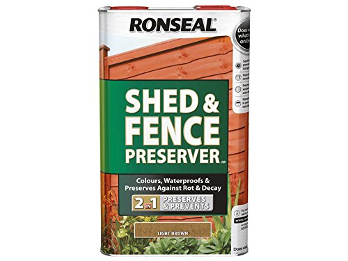 Ronseal Shed & Fence Preserver Light Brown 5 Litre