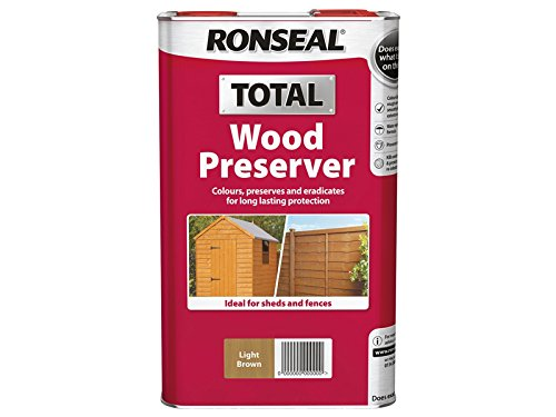 Ronseal Rslwplb5l 5 Litre Total Wood Preserver - Light Brown