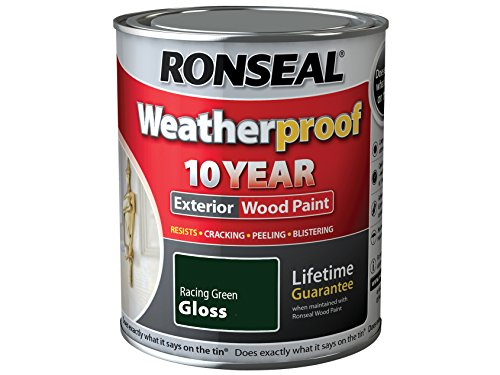 Ronseal Rslwprgg750 750 Ml Weatherproof Exterior Wood Paint - Racing Green Gloss