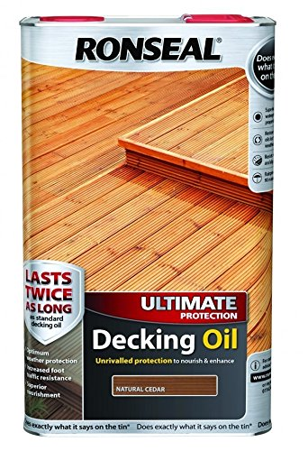 Ronseal Ultimate Protection Decking Oil - Natural Cedar - 2.5 Litre