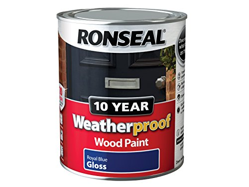 Ronseal Wprbg750 750 Ml 10 Year Weatherproof Exterior Gloss Wood Paint - Blue