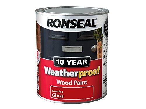 Ronseal Wprrg750 750 Ml 10 Year Weatherproof Exterior Gloss Wood Paint - Red