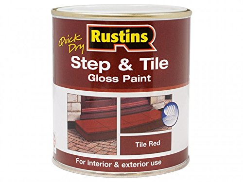 Rustins Quick Dry Step & Tile Paint Gloss Red 1 Litre