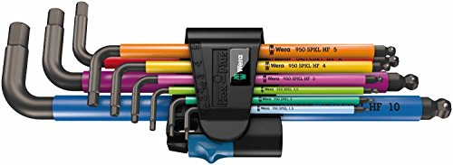 Wera 950 SPKL/9 Hex-Plus Holding Function Metric L-Key Set of 9 (1.5-10mm)