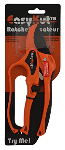 Easykut Gt452cac Ratchet Secateurs, Orange, 20.5x9x2 Cm