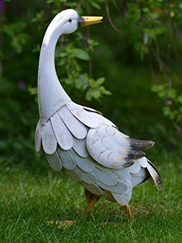 Green Jem Metal Goose Garden Decoration