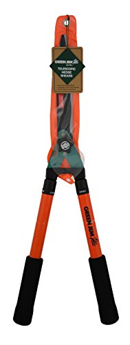 Green Jem Telescopic Hedge Shears Cutters Gardening Tool With Non-stick Blades - Orange