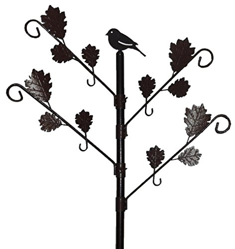 Green Jem Wild Bird Bird Feeding Station With Leaves In Brown Hammertone