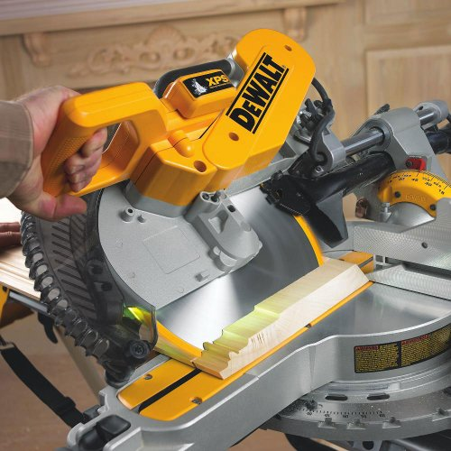 Dewalt 230v 305mm Compound Slide Mitre Saw With Xps