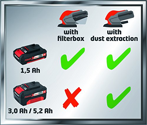 Einhell Te-os 18 Li Solo Power X-change 18 V Lithium Cordless Multi Sander With Filter Box