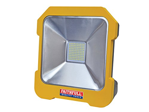 Faithfull Power Plus Fppsltl20l Smd Led Task Light With Power Take-off, 20 W, 110 V, Blue
