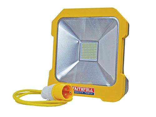 Faithfull Power Plus Fppsltl20l Smd Led Task Light With Power Take-off, 20 W, 110 V, Blue