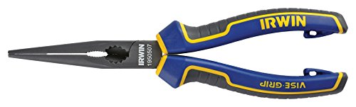 Irwin Visegrip 1950507 8-inch Long Nose Pliers - Blue/yellow