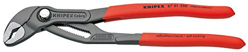 Knipex 87 01 250 Sb Cobra Hightech Water Pump Pliers Grey Atramentized With Non-slip Plastic Coating 250 Mm (blister Packed)
