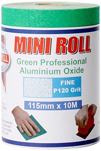 Faithfull Aluminium Oxide Paper Roll 115mm X 10m 120g - Green