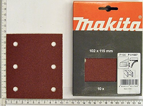 Makita P-33118 100 Grit Punched 1/4 Sheet Hook And Loop Sanding Paper - Multi-colour