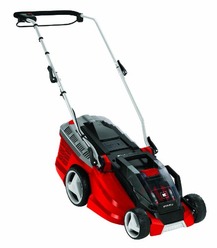 Einhell Ge-cm 36 Li Kit Power X-change 36 V Lithium-ion Cordless Lawnmower With Fast Charger (2 X 18 V, 36 Cm Cutting Width, 40 L Collection Box) - Red
