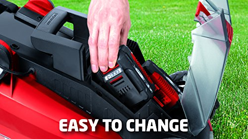Einhell Ge-cm 43 Li M Kit Power X-change 18 V Cordless Lithium Lawnmower With 43 Cm Cutting Width (4000 Mah, 6-way Cutting Height Adjustment 25-75 Mm, Collecting Tank Volume 63 L) - Red