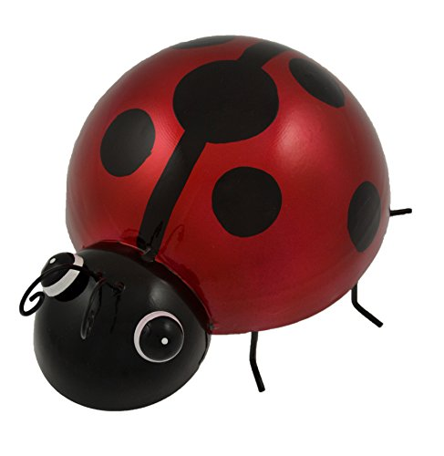 Green Jem Ladybird Metal Garden Decoration