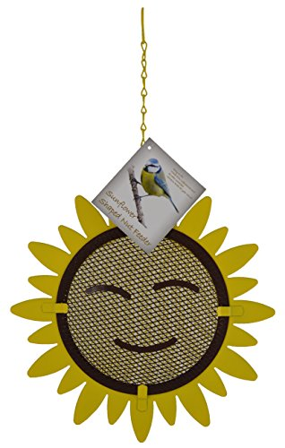 Green Jem Sunflower Shaped Nut Wild Bird Feeder, Natural, 23.5x6x23.5 Cm