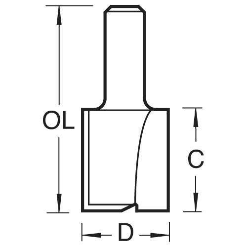 Trend - Two Flute Cutter 50.8 Mm Diameter - 4/15x1/2tc