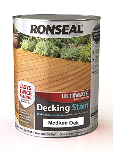 Ronseal Ultimate Protection Decking Stain - 5 Litre (5l) - Medium Oak