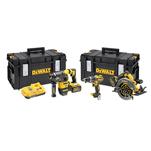 Dewalt Dck357t2 Triple Kit: Dcd796 Plus Dch333 And Dcs575 In 2 X Tstak Boxes, 18 V, Yellow