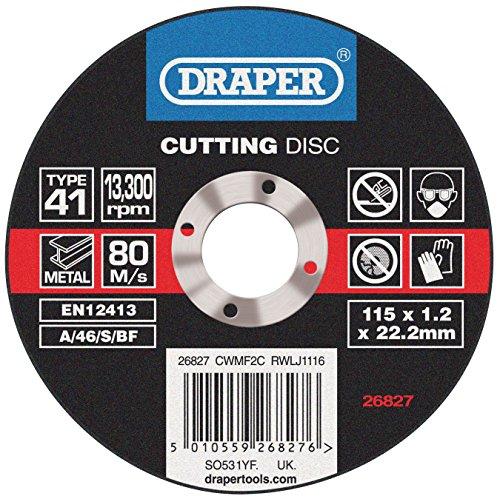 Draper Flat Metal Cutting Discs (115 X 1.2 X 22.2mm)