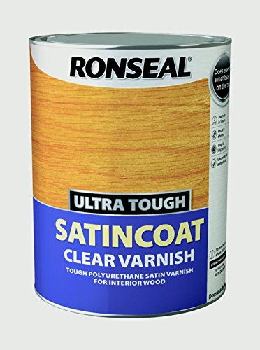 Ronseal 34764 Interior Varnish, Clear, 5l